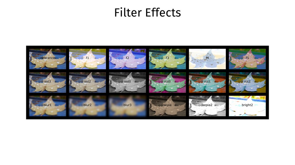 Filter Effects