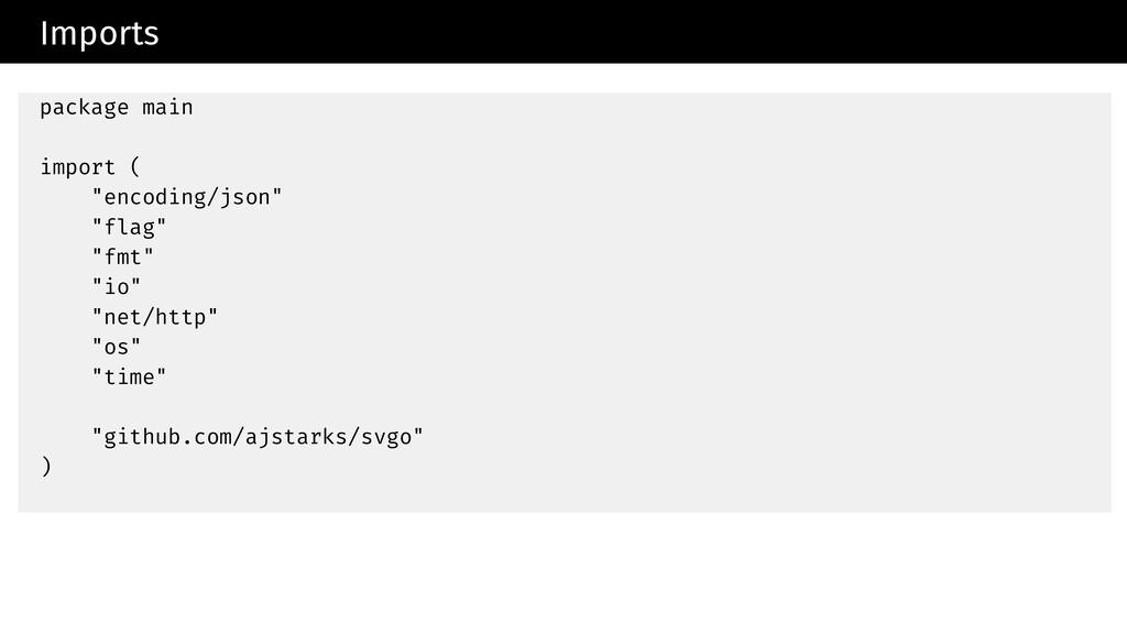 "Imports package main import ( ""encoding/json"" ""..."