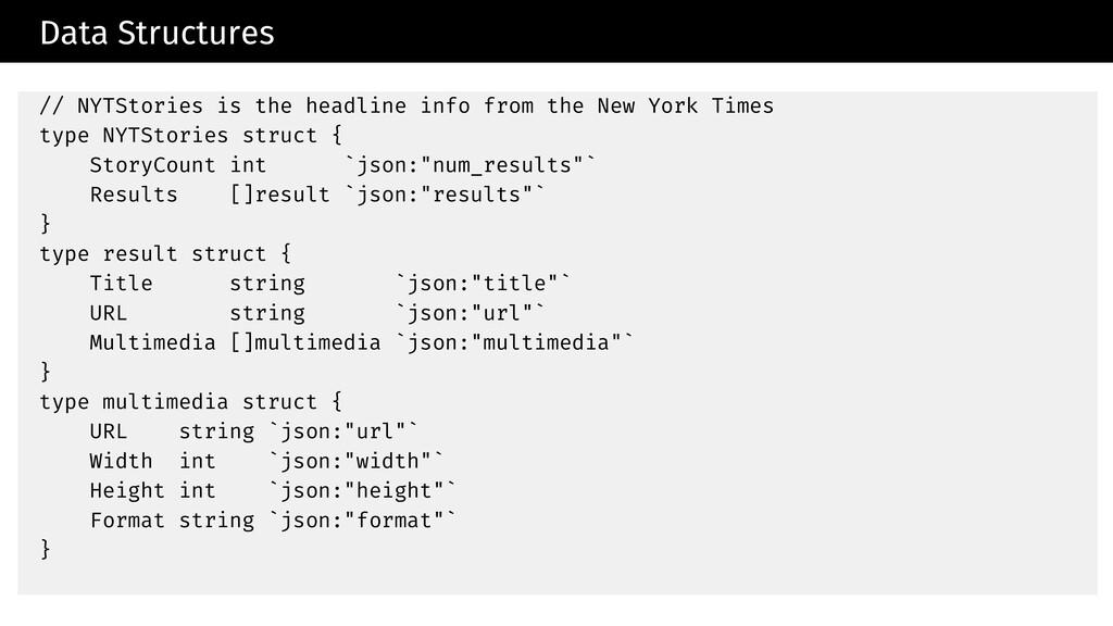 Data Structures // NYTStories is the headline i...