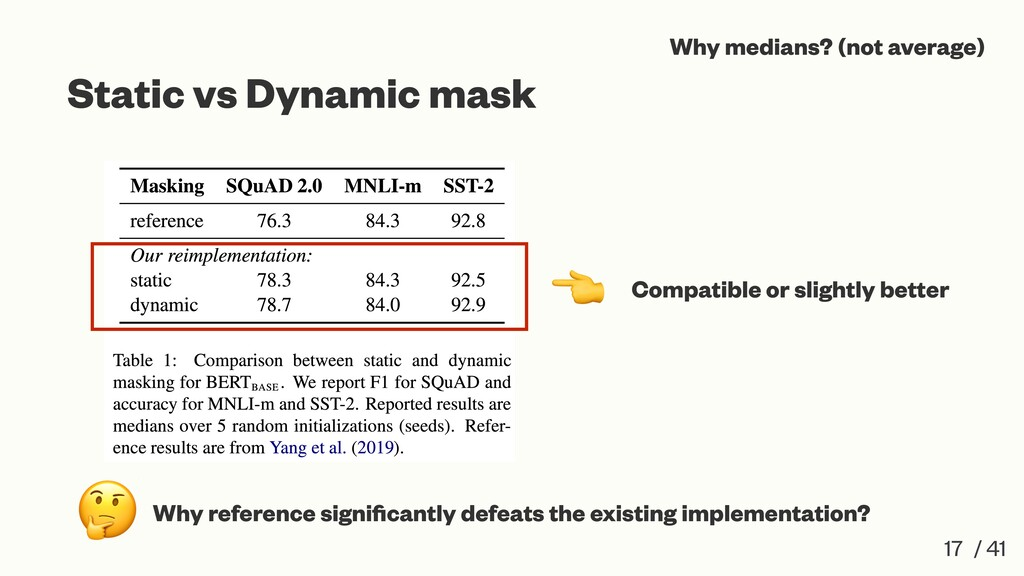 Static vs Dynamic mask 17 / 41 Compatible or sl...