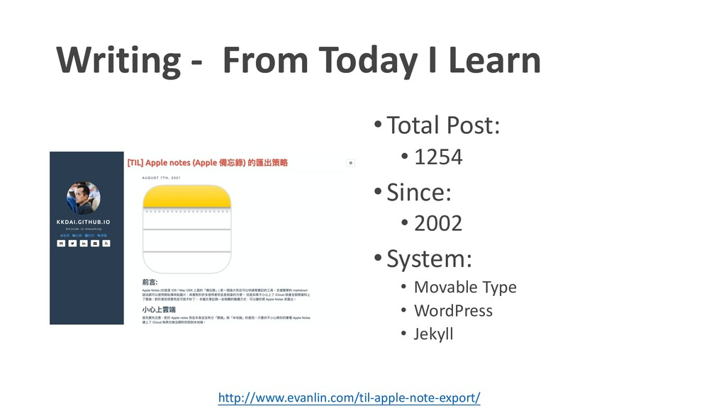 Writing - From Today I Learn •Total Post: • 125...