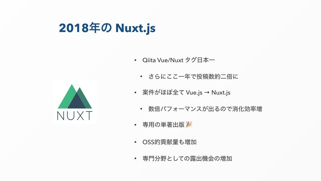 2018ͷ Nuxt.js • Qiita Vue/Nuxt λάຊҰ • ͞Βʹ͜͜Ұ...