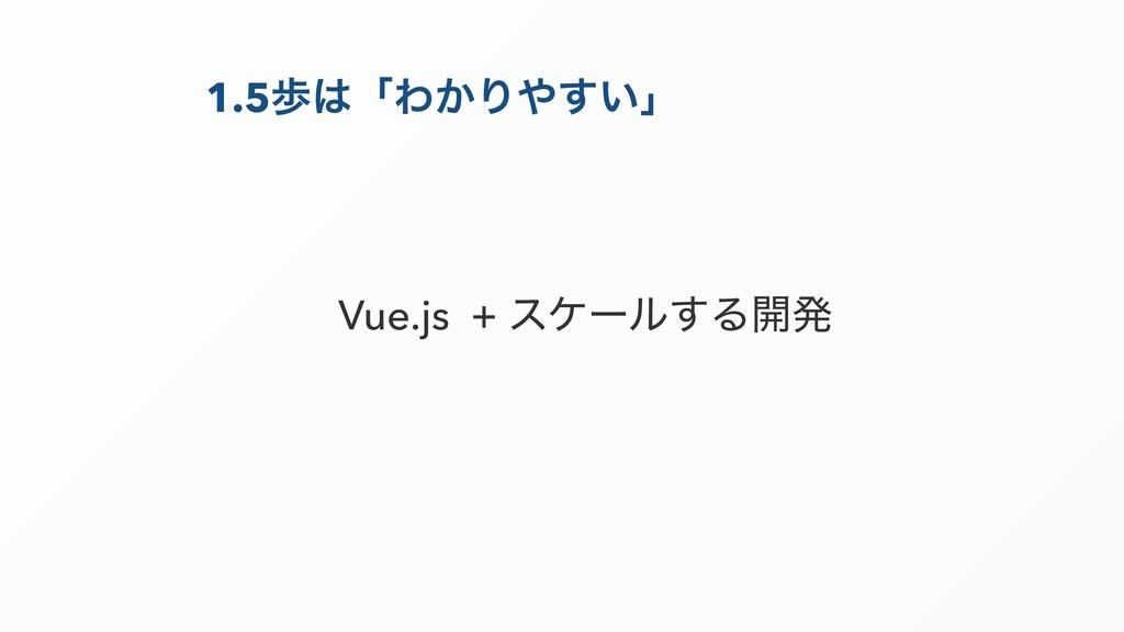 1.5าʮΘ͔Γ͍͢ʯ Vue.js + εέʔϧ͢Δ։ൃ