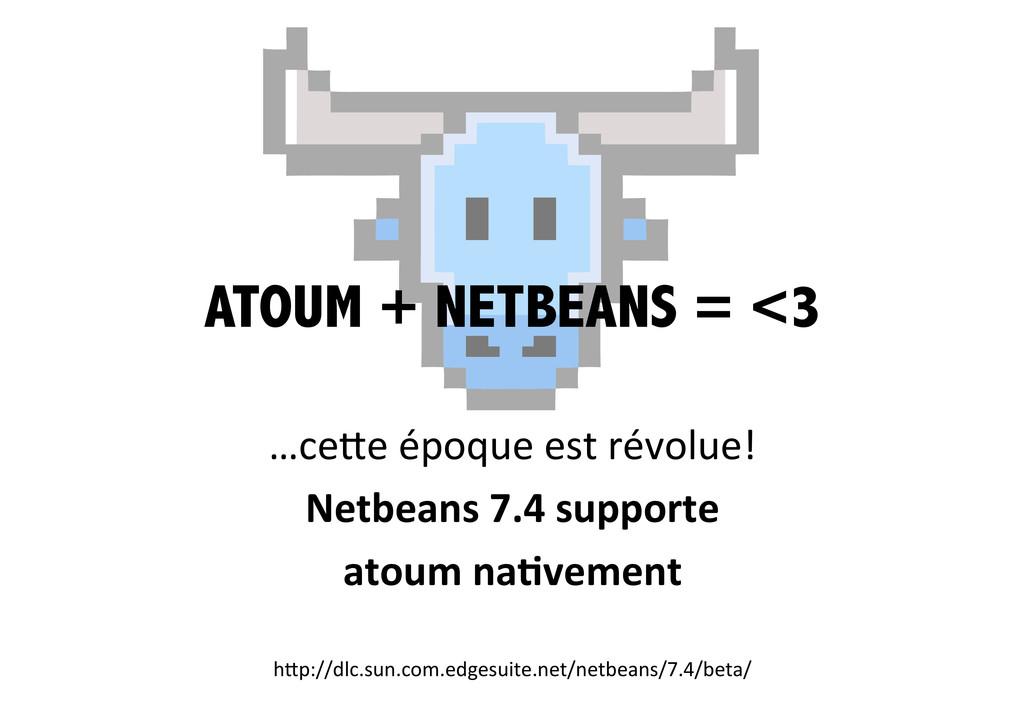 ATOUM + NETBEANS = <3 …ce0e époque est ...