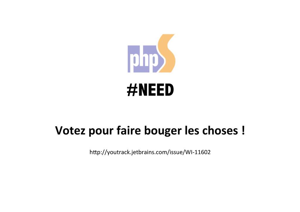#NEED Votez pour faire bouger les...