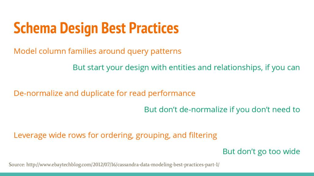 Schema Design Best Practices Model column famil...