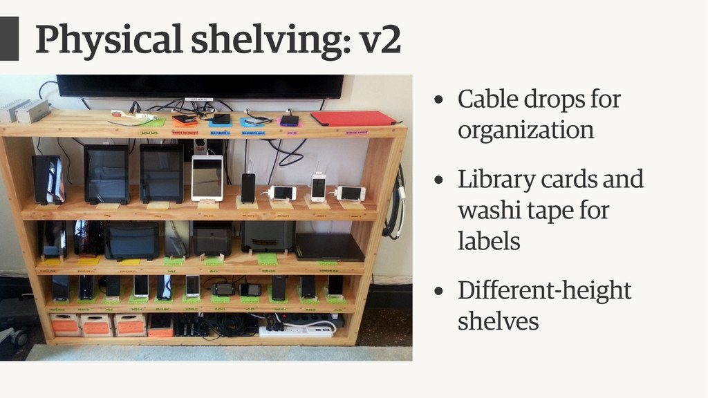 Physical shelving: v2 • Cable drops for organiz...