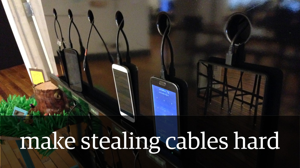 make stealing cables hard