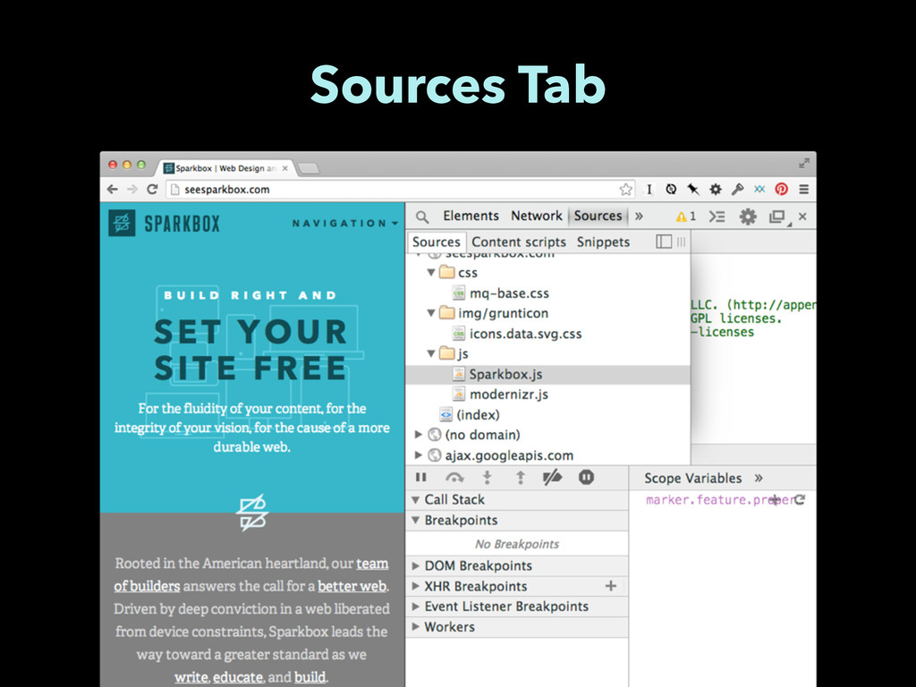 Sources Tab