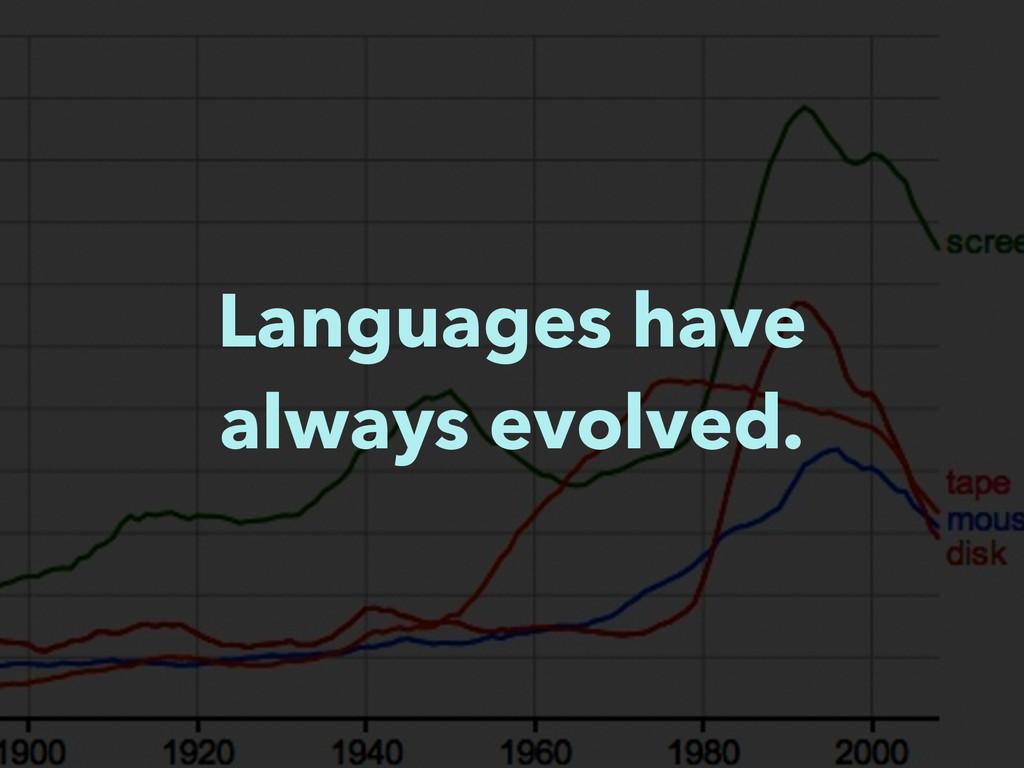 Languages have always evolved.