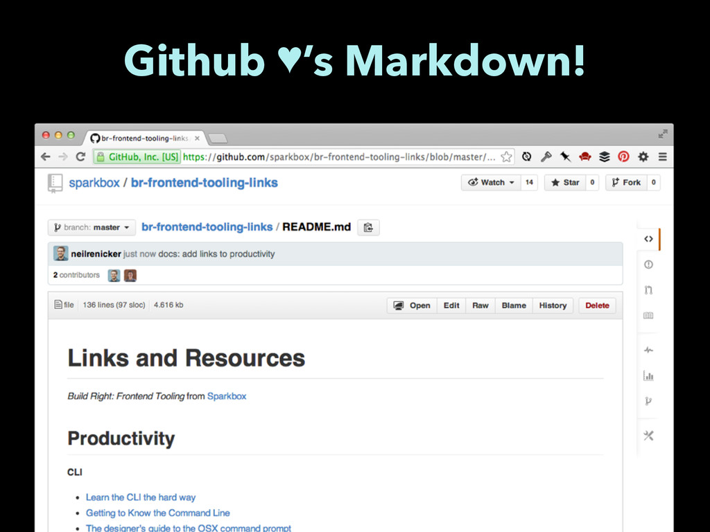 Github ♥'s Markdown!