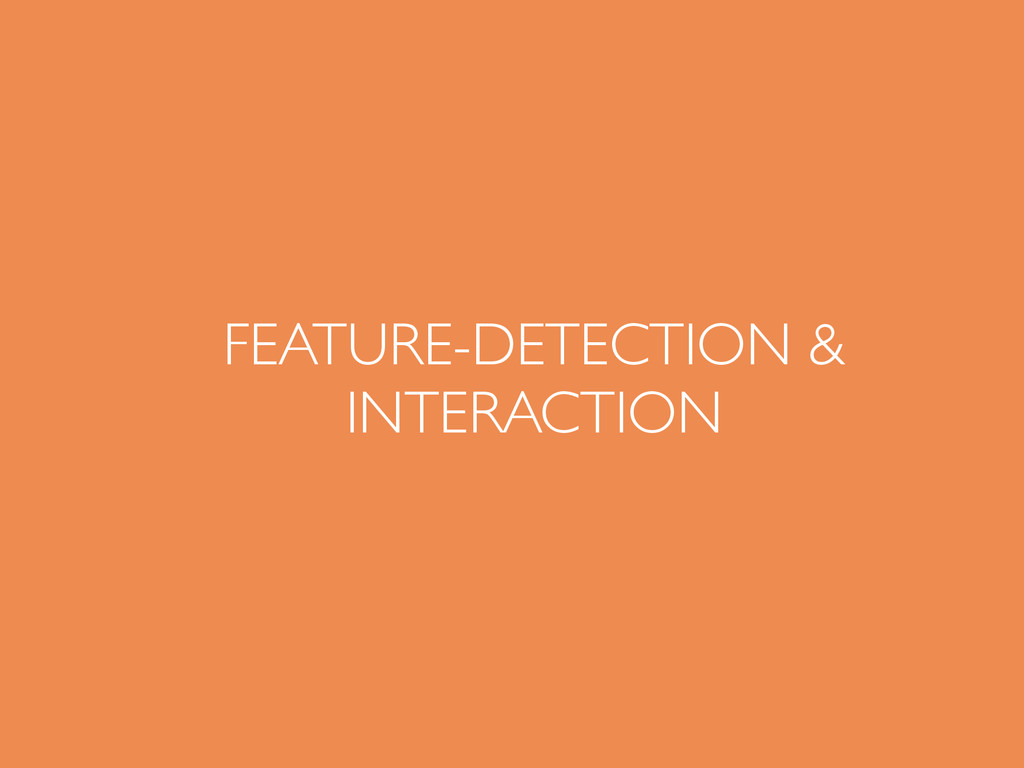 FEATURE-DETECTION & INTERACTION