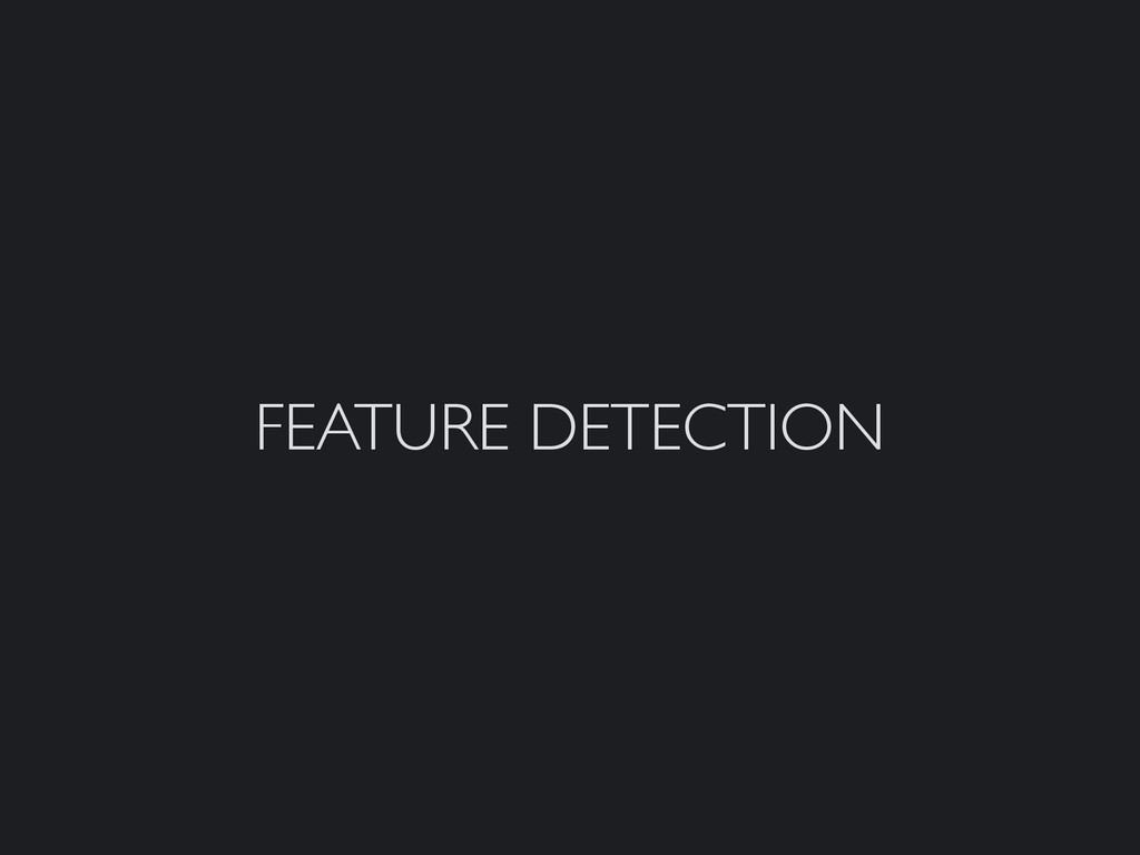 FEATURE DETECTION