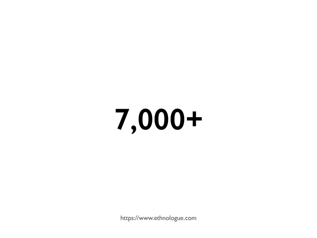7,000+ https://www.ethnologue.com