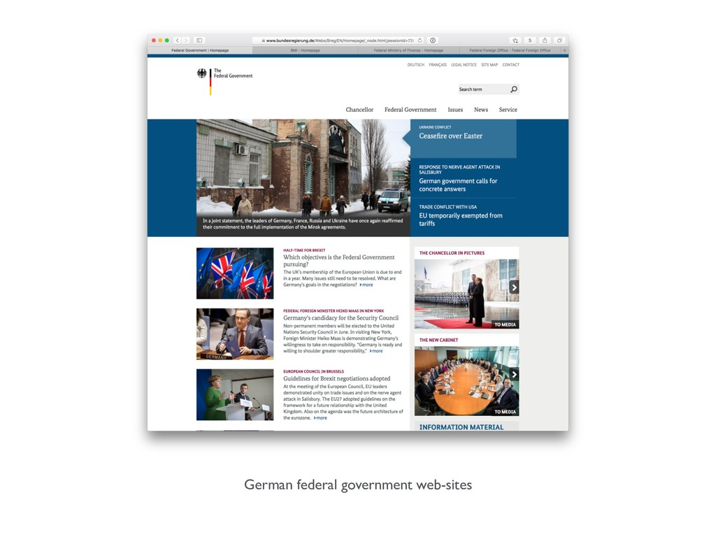 German federal government web-sites