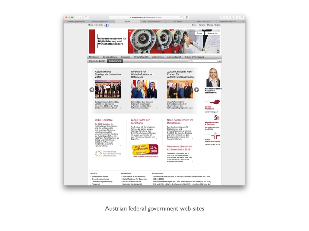 Austrian federal government web-sites