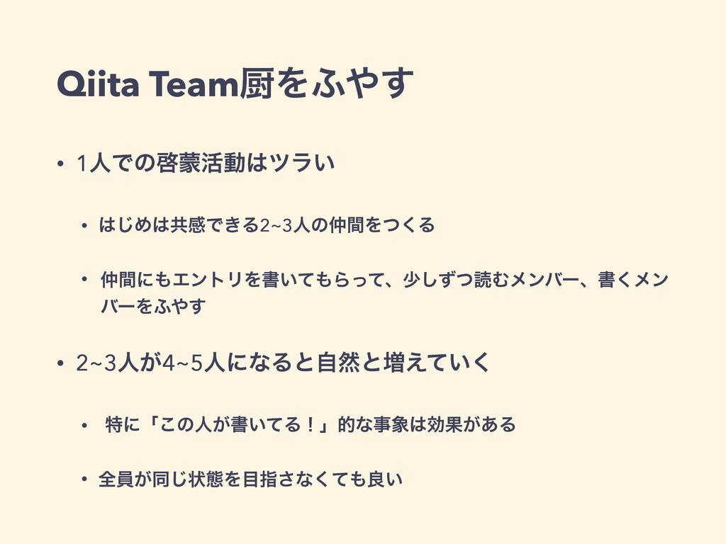 Qiita TeamਥΛ;͢ • 1ਓͰͷܒ׆ಈπϥ͍ • ͡ΊڞײͰ͖Δ2~3ਓͷ...