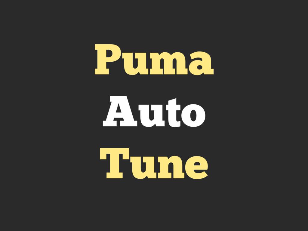 Puma Auto Tune