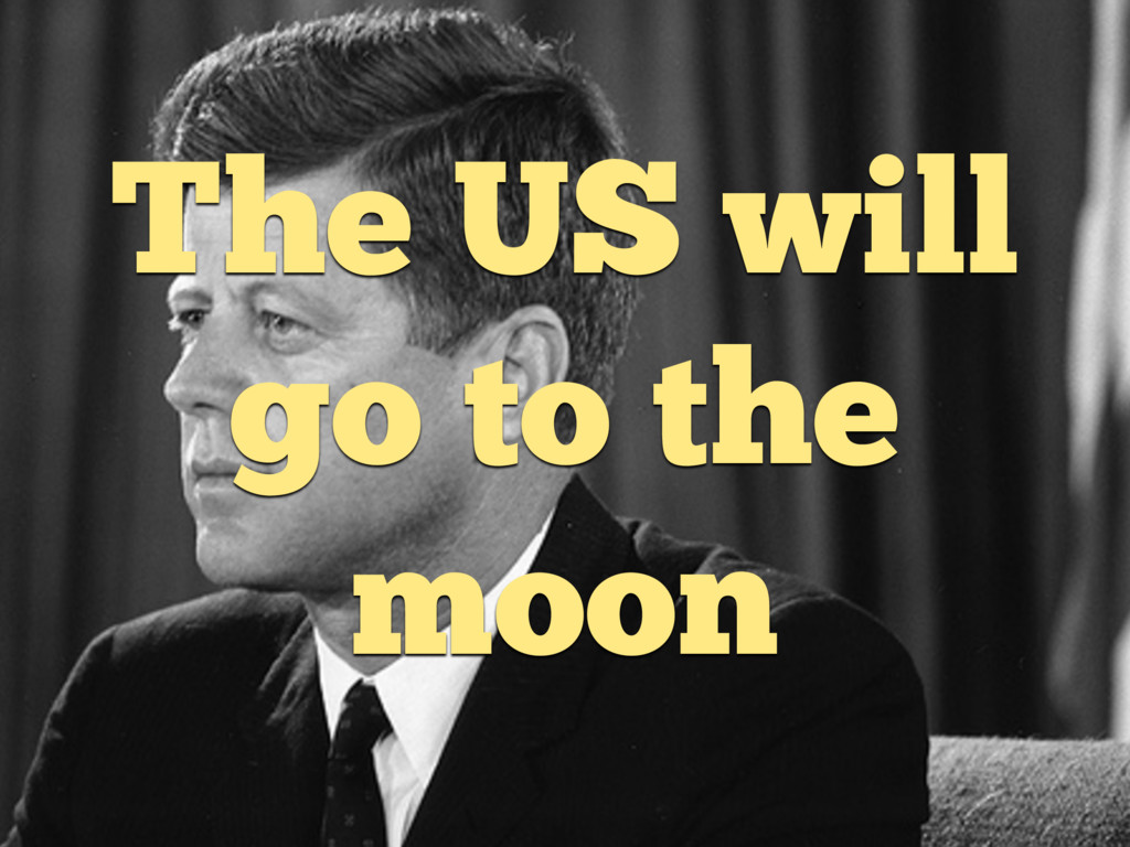 The US will go to the moon