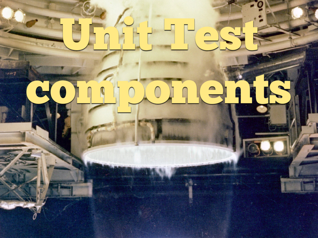 Unit Test components