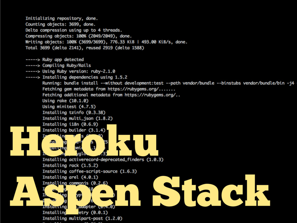 Heroku Aspen Stack