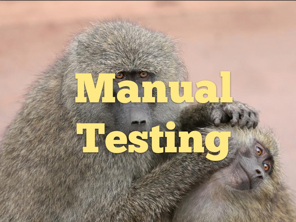 w Manual Testing