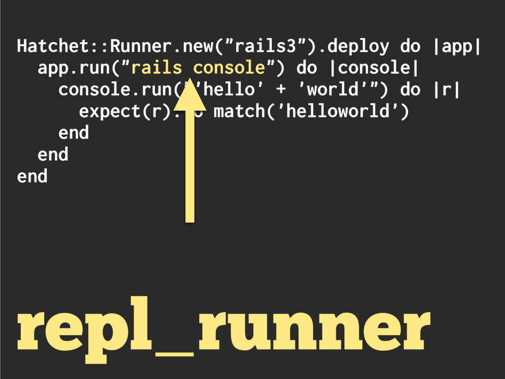 "Hatchet::Runner.new(""rails3"").deploy do 