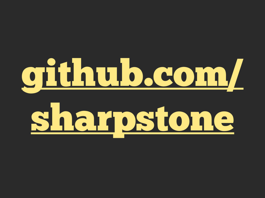 github.com/ sharpstone