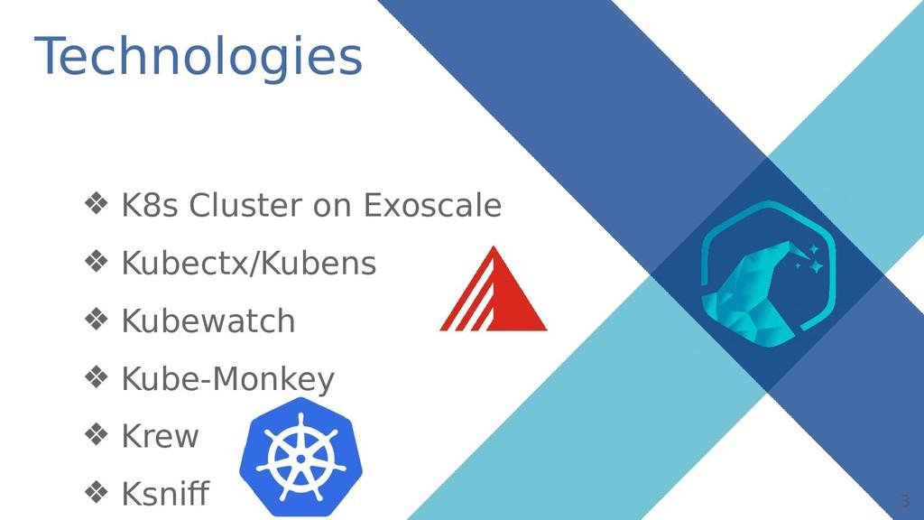 3 Technologies ❖ K8s Cluster on Exoscale ❖ Kube...
