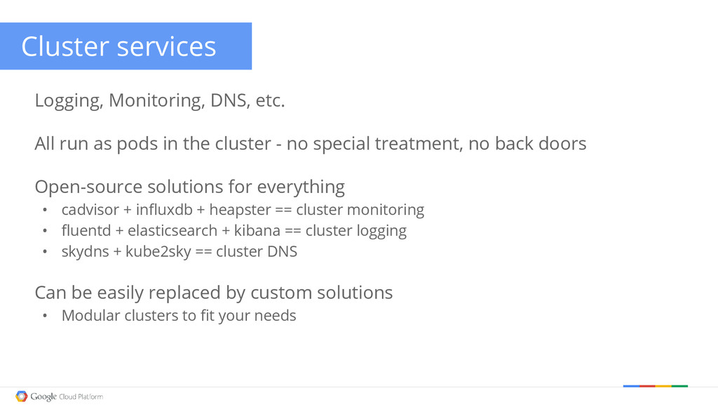 Google confidential │ Do not distribute Cluster...