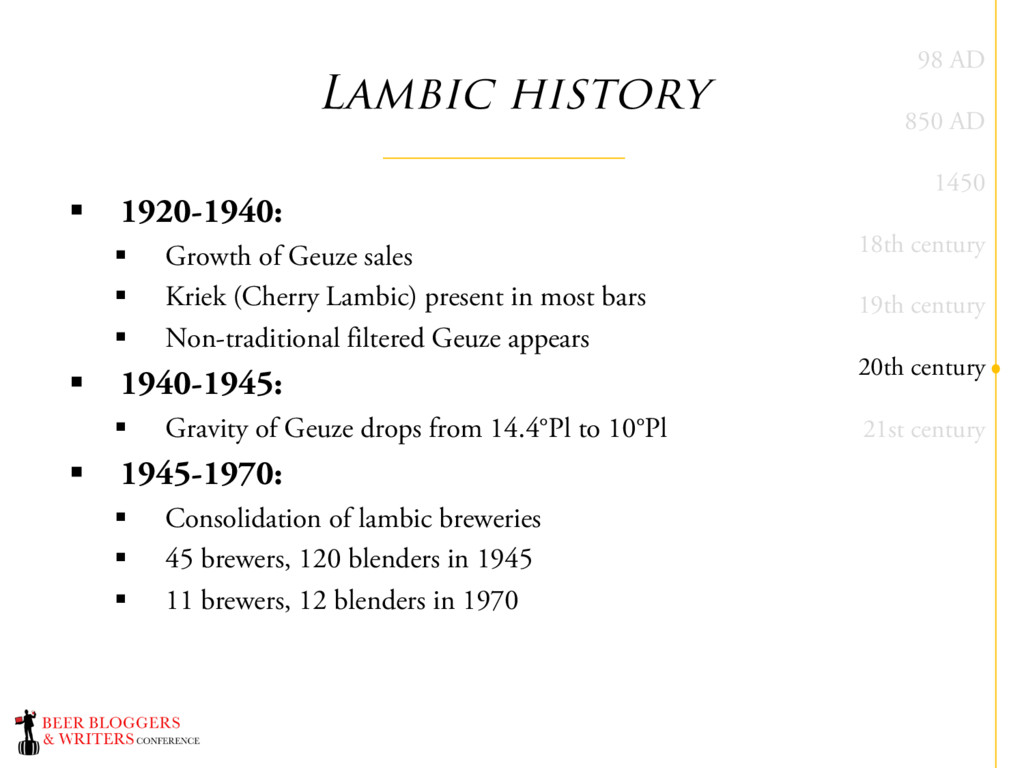 Lambic history § 1920-1940: § Growth of Geuze s...