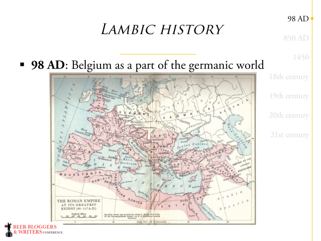 Lambic history § 98 AD: Belgium as a part of th...
