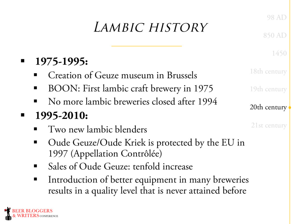 Lambic history § 1975-1995: § Creation of Geuze...