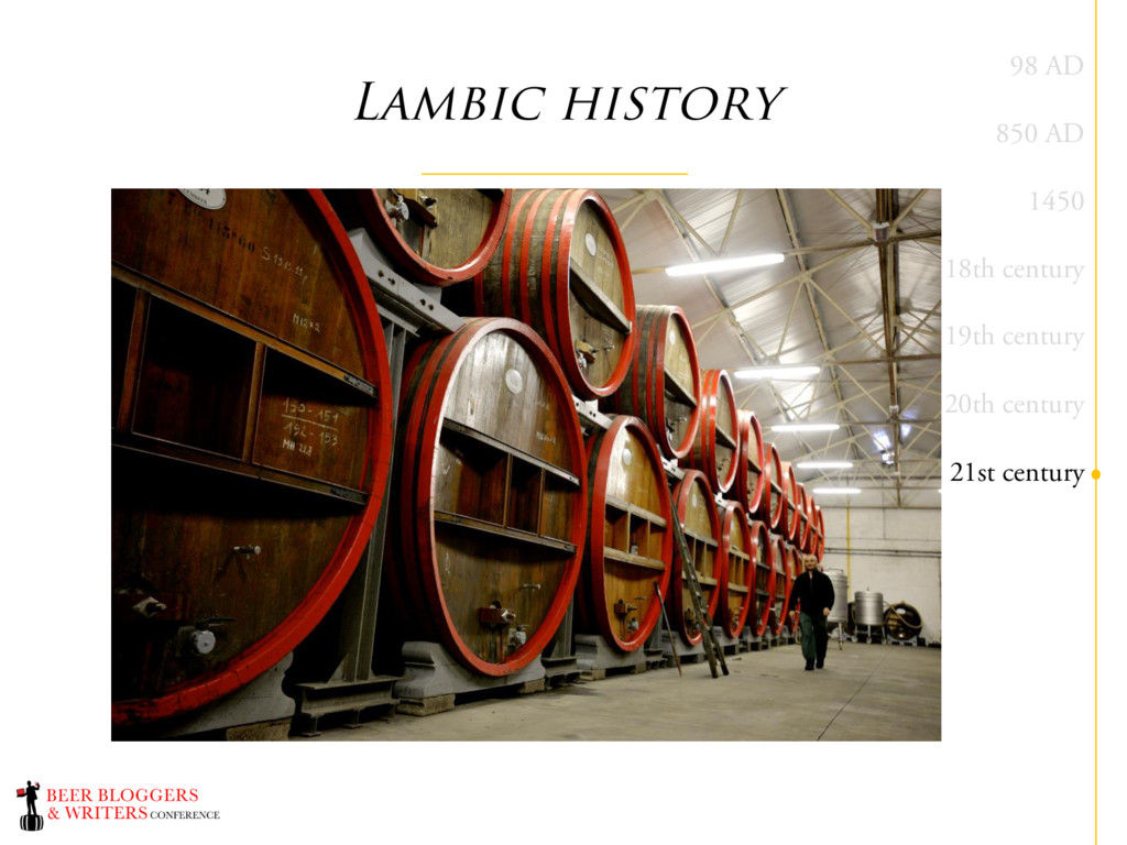 Lambic history 98 AD 850 AD 1450 18th century 1...