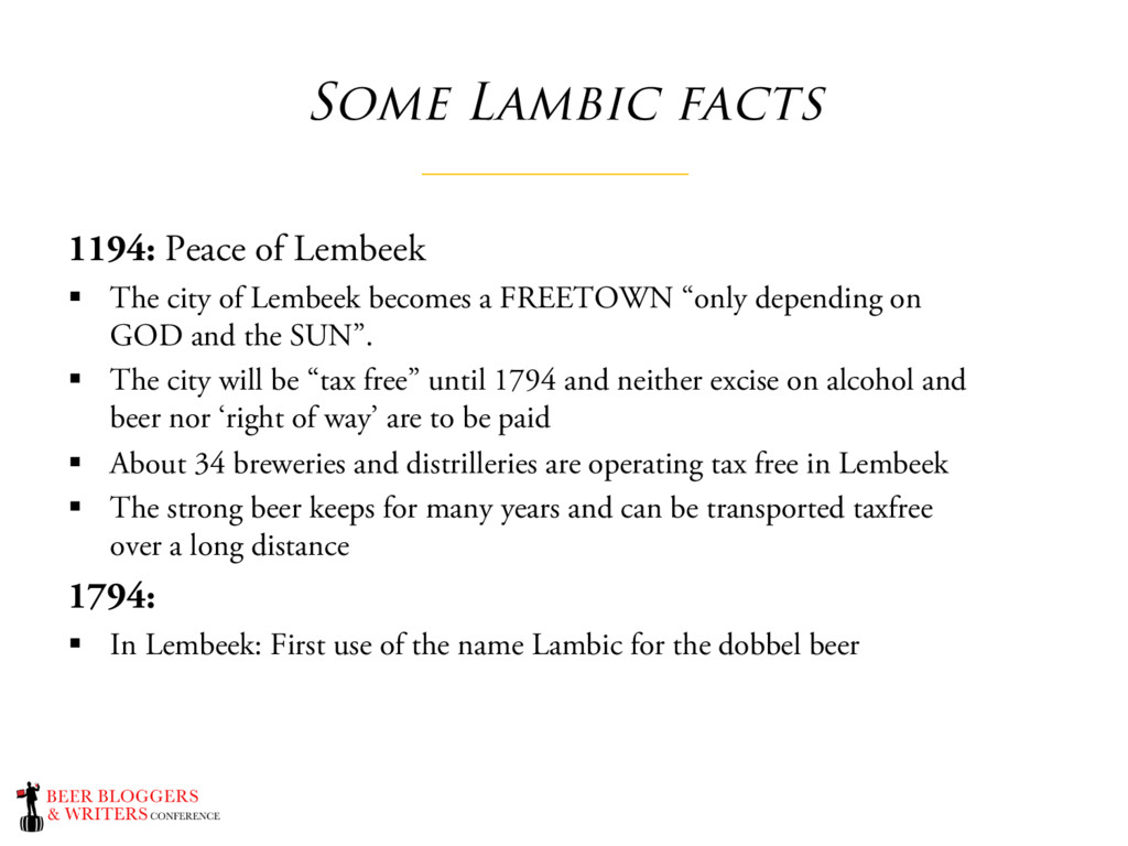 Some Lambic facts 1194: Peace of Lembeek § The ...