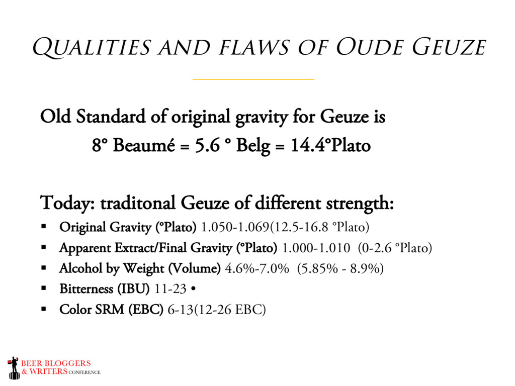 Qualities and flaws of Oude Geuze Old Standard ...