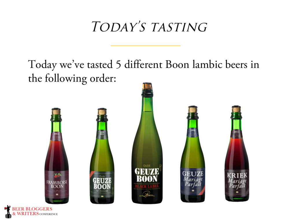 Today's tasting Today we've tasted 5 different ...