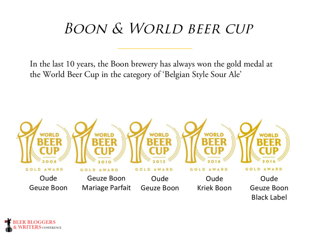 Boon & World beer cup In the last 10 years, the...