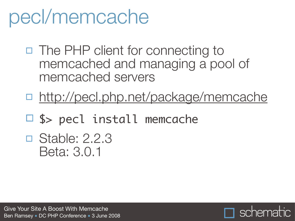Give Your Site A Boost With Memcache Ben Ramsey...