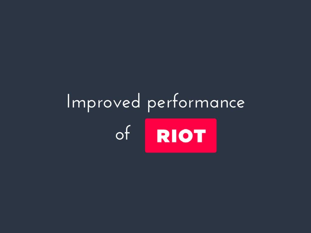 Improved performance of riotjs