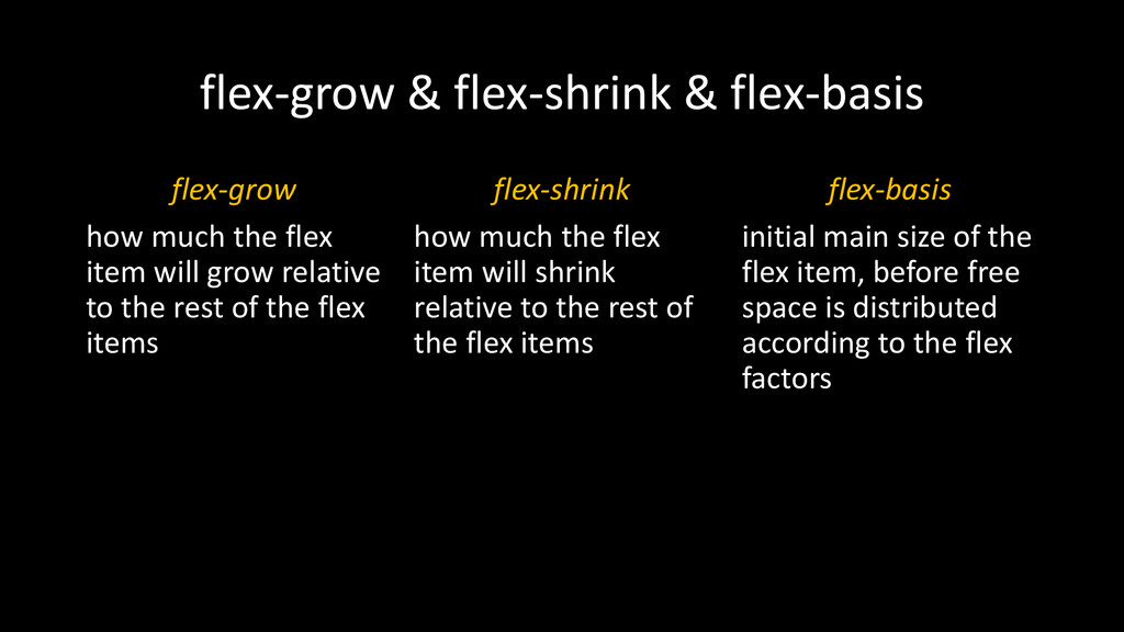 flex-grow & flex-shrink & flex-basis flex-grow ...