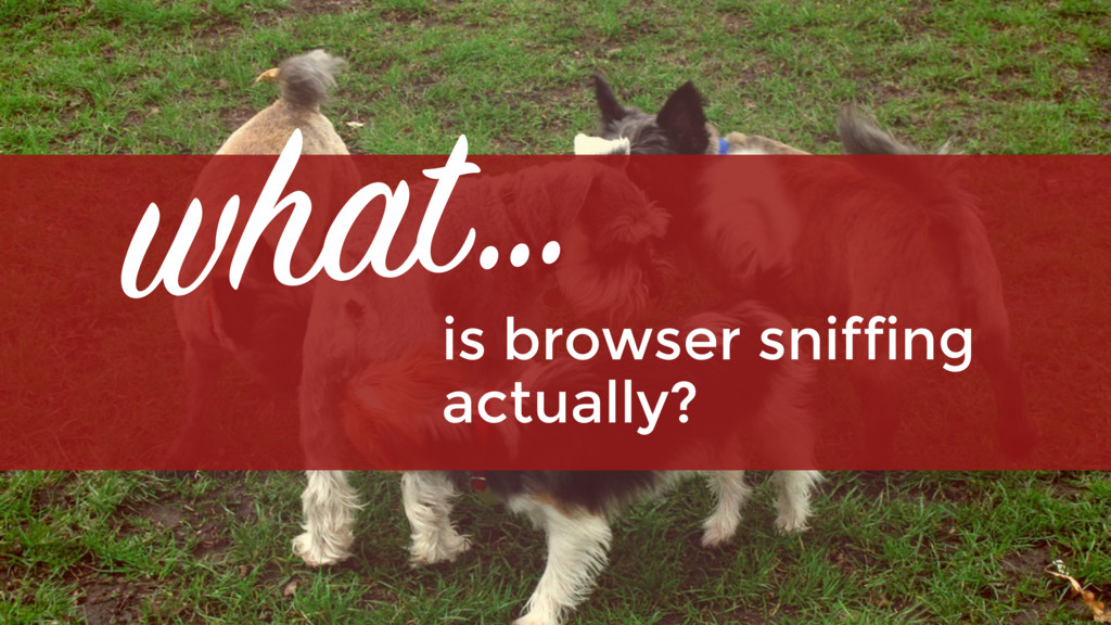 is browser sniffing  actually? what…