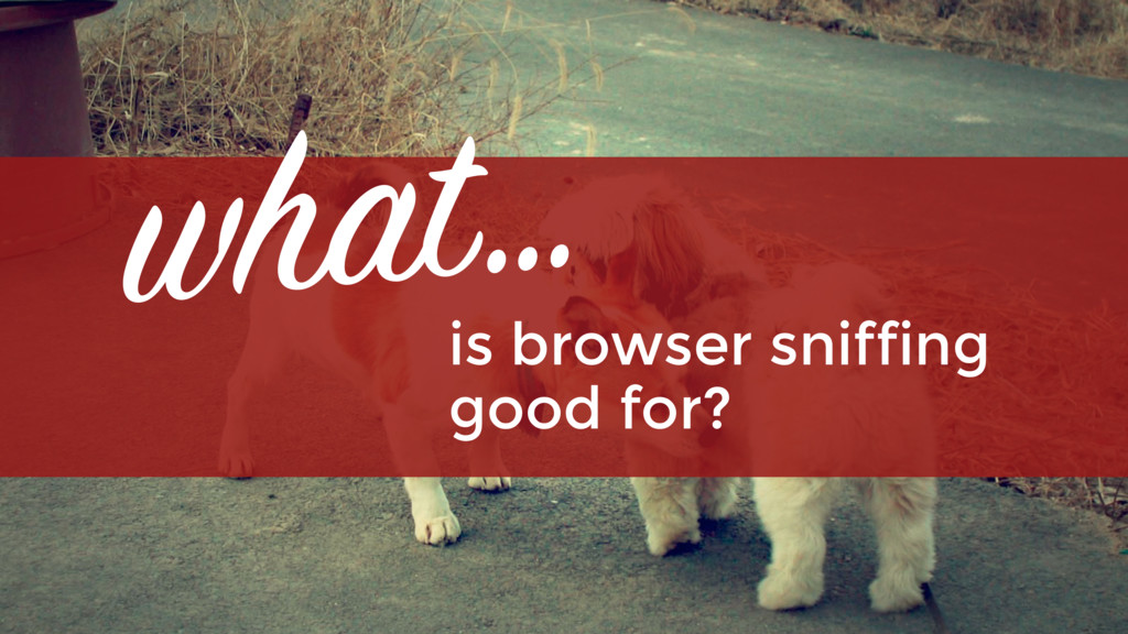 is browser sniffing  good for? what…