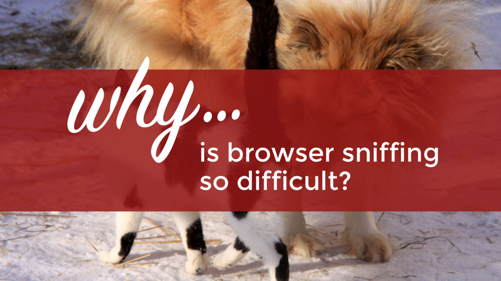is browser sniffing  so difficult? why…