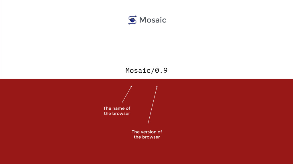 Mosaic/0.9 The name of  the browser The versio...