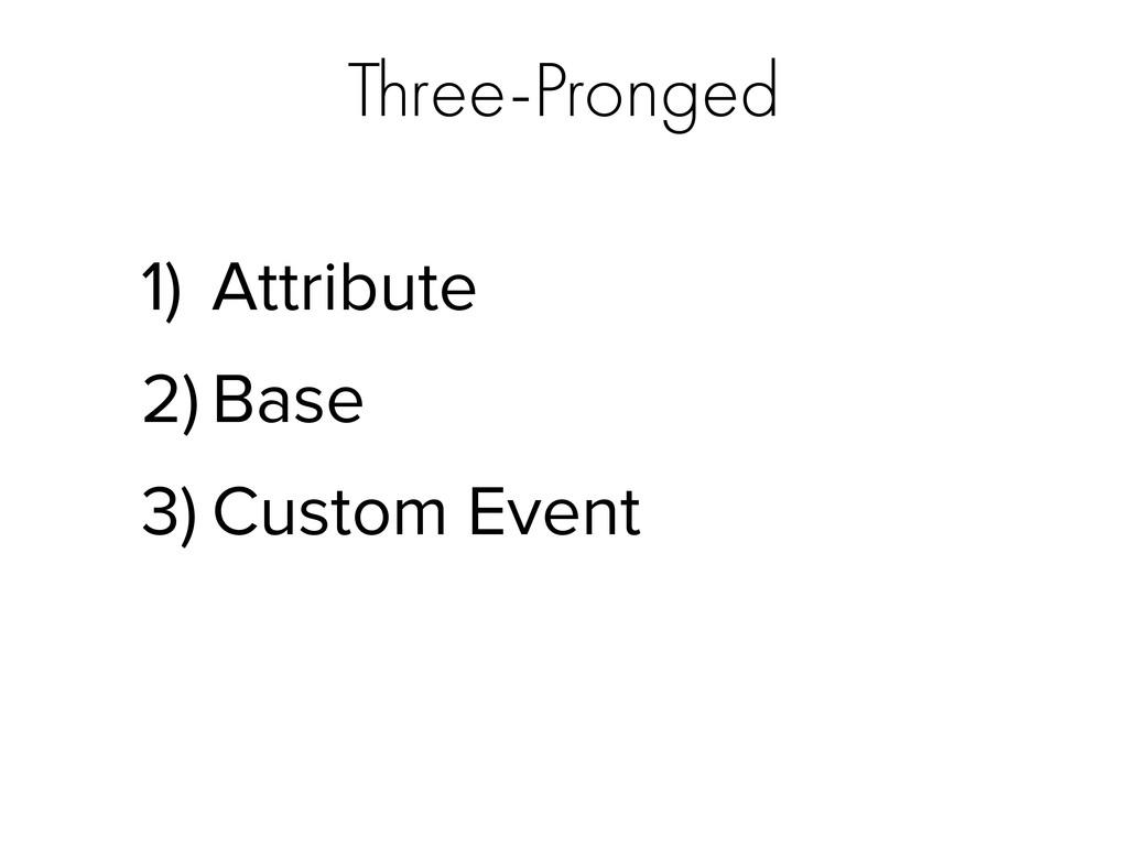 Three-Pronged 1) Attribute 2) Base 3) Custom Ev...