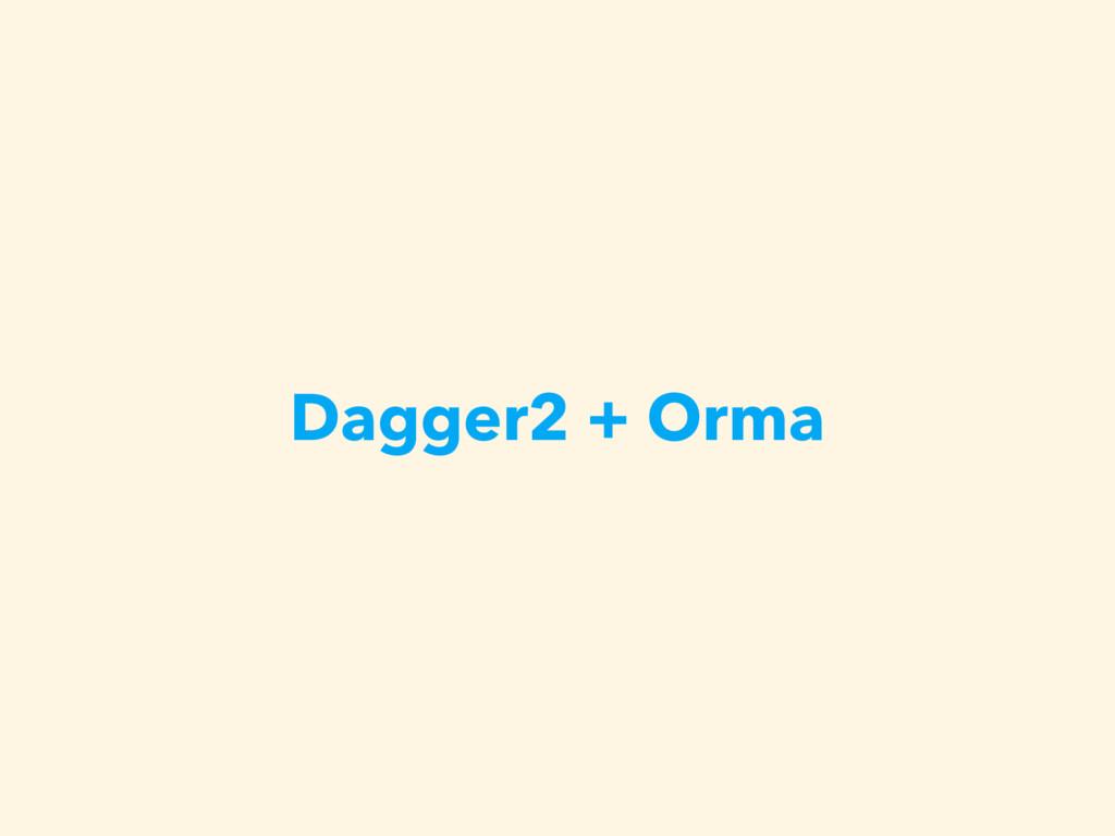 Dagger2 + Orma