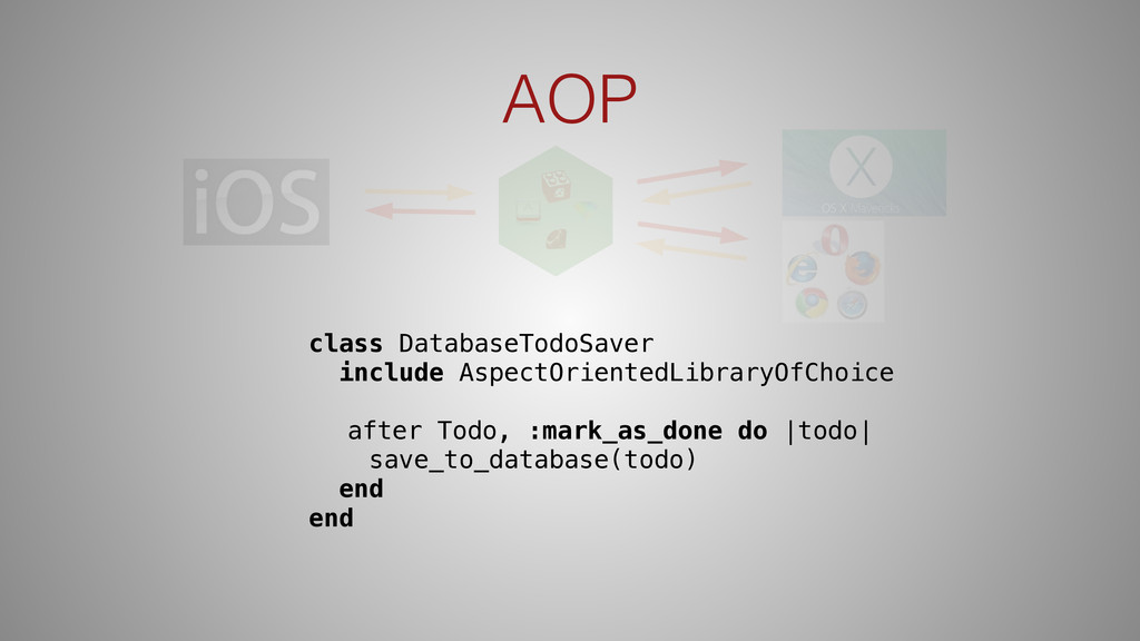 AOP class DatabaseTodoSaver include AspectOrien...