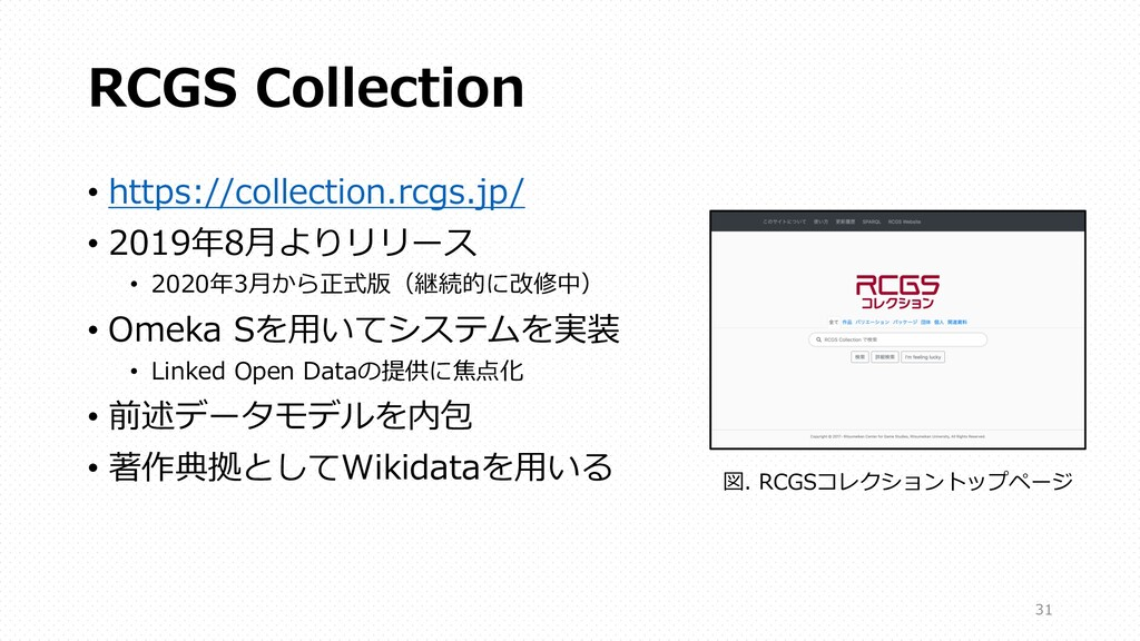 RCGS Collection • https://collection.rcgs.jp/ •...