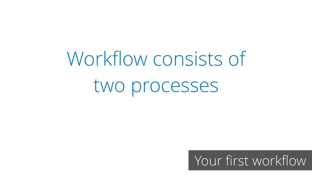 Workflow consists of two processes Your first wor...